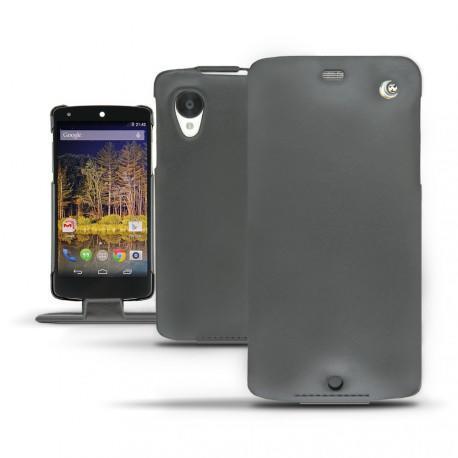 LG Nexus 5  leather case - Noir ( Nappa - Black )