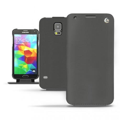 Samsung SM-G900 Galaxy S5  leather case - Noir ( Nappa - Black )