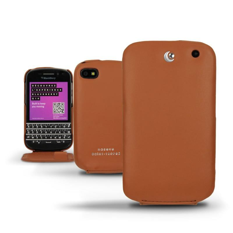 Blackberry q10 leather case for Housse blackberry q10