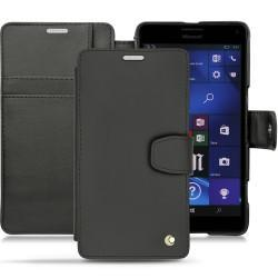 가죽 커버 Microsoft Lumia 950 XL - 950 XL Dual Sim - Noir ( Nappa - Black )