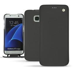 Capa em pele Samsung Galaxy S7 Edge - Noir ( Nappa - Black )