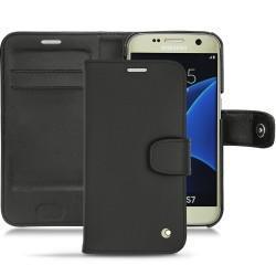 硬质真皮保护套 Samsung Galaxy S7 - Noir ( Nappa - Black )