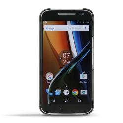 Housse cuir Motorola Moto G4 - Noir ( Nappa - Black )
