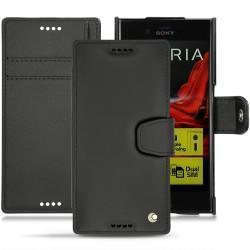 Sony Xperia XZ leather case - Noir ( Nappa - Black )