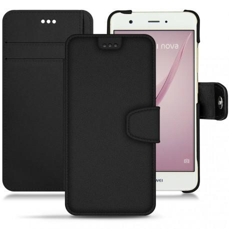 Huawei Nova leather case - Noir PU
