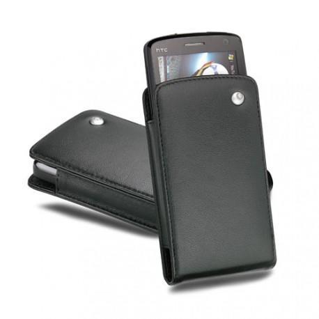 Housse cuir HTC T8282 - HTC Touch HD - Noir ( Nappa - Black )