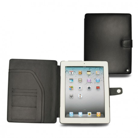 Apple iPad 2  leather case - Noir ( Nappa - Black )
