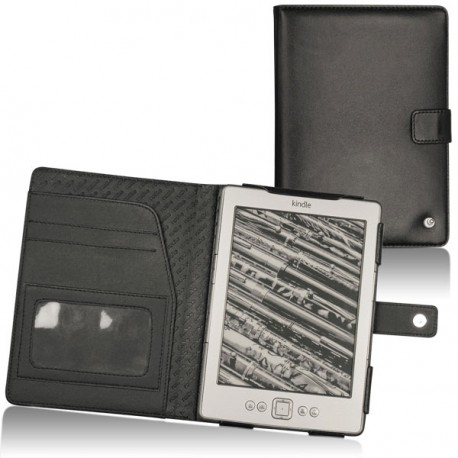 Amazon Kindle 4  leather case - Noir ( Nappa - Black )