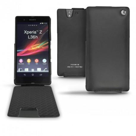 Sony Xperia Z  leather case - Noir ( Nappa - Black )