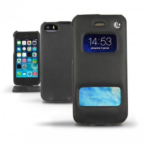 Apple iPhone 5S leather case - Noir ( Nappa - Black )