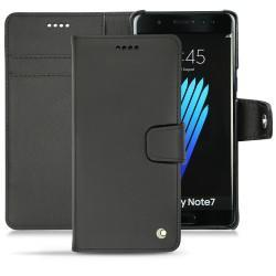 가죽 커버 Samsung Galaxy Note 7 - Noir ( Nappa - Black )