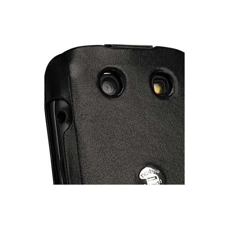 Blackberry torch 9850 9860 leather case for Housse blackberry