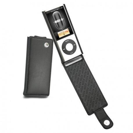 Apple iPod nano 5G  leather case - Noir ( Nappa - Black )