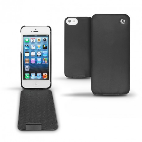 가죽 커버 Apple iPhone 5  - Noir ( Nappa - Black )