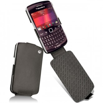 Blackberry curve 9350 9360 9370 leather case for Housse blackberry curve