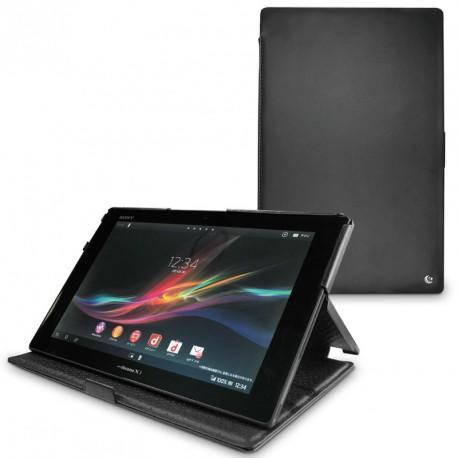 Sony Xperia Tablet Z  leather case - Noir ( Nappa - Black )